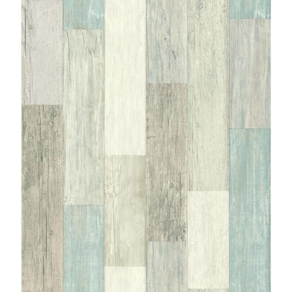 28.18 sq. ft. Coastal Weathered Plank Peel and Stick Wallpaper