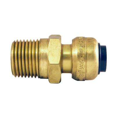 3/8 in. (1/2 in. O.D.) Brass Push-to-Connect x 1/2 in. Male Pipe Thread Reducing Adapter