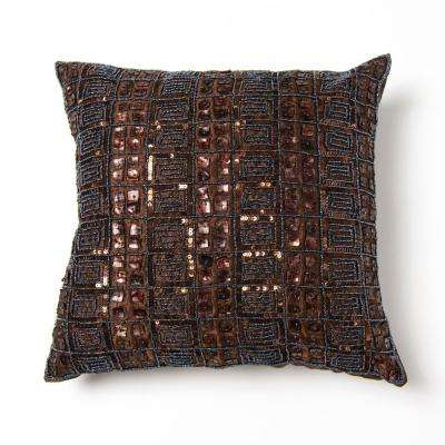 Mother of Pearl and Sequin Dark Chocolate Pillow