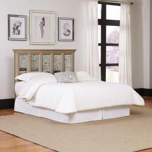 Visions Silver Gold Champagne Finish King Headboard