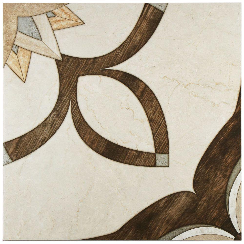 Merola Tile Argos Natural 17-3/4 in. x 17-3/4 in. Ceramic Floor ...