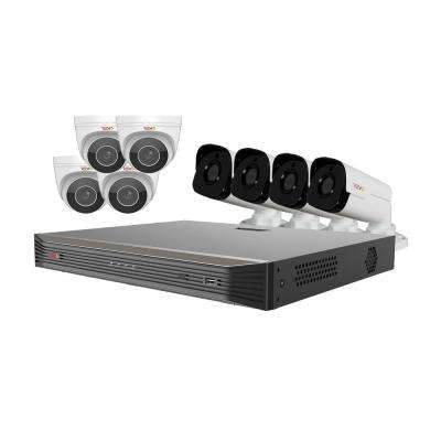 Ultra HD Audio Capable 16-Channel 3TB NVR Surveillance System with Eight 4 Megapixel Cameras
