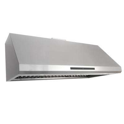 48 in. Ducted Under Cabinet Range Hood with LED Light and Permanent Filters in Stainless Steel