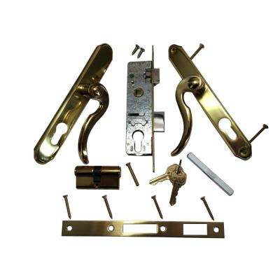 Bp Il550 Slimline Double Cylinder Br And Gold Lockset