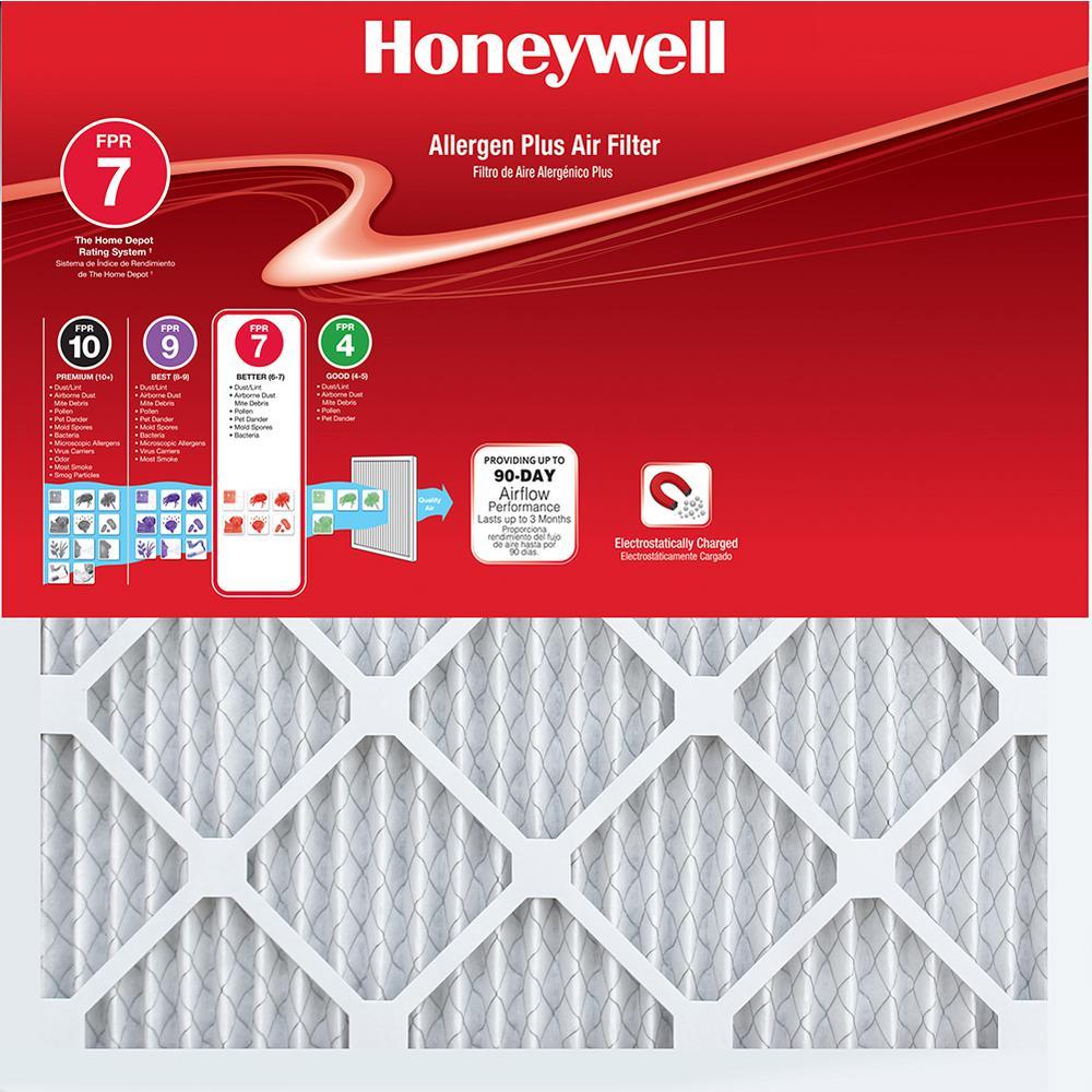 Honeywell 12 in. x 32 in. x 1 in. Allergen Plus Pleated F...