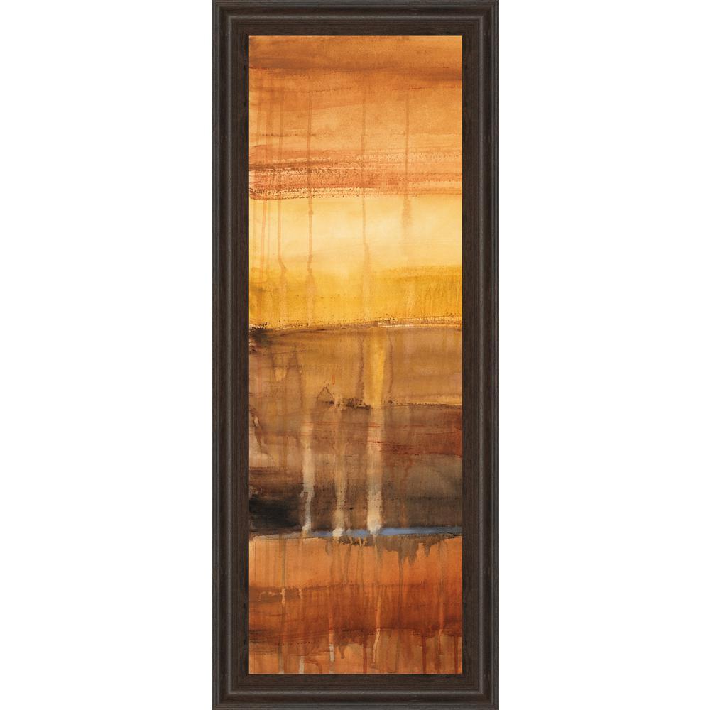 "18 in. x 42 in. ""Autumn Glows I"" by Lanie Loreth Framed Printed Wall Art"