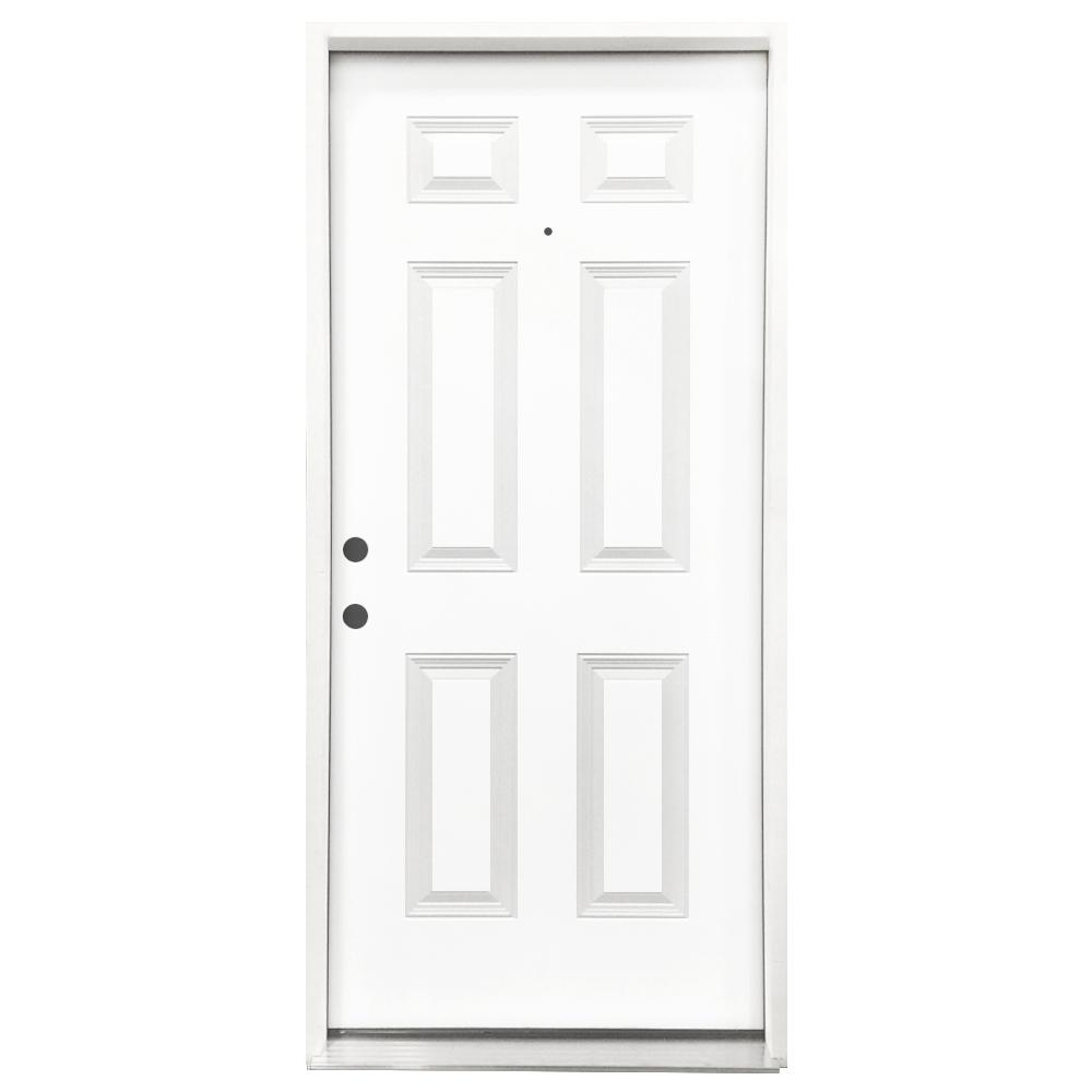 24 Inch Exterior Door Home Depot: Steves & Sons 24 In. X 80 In. Classic Flush Right-Hand