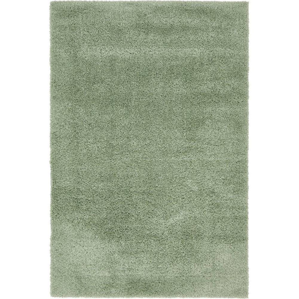 Unique Loom Studio Solid Sage Green 4 X 6 Rug