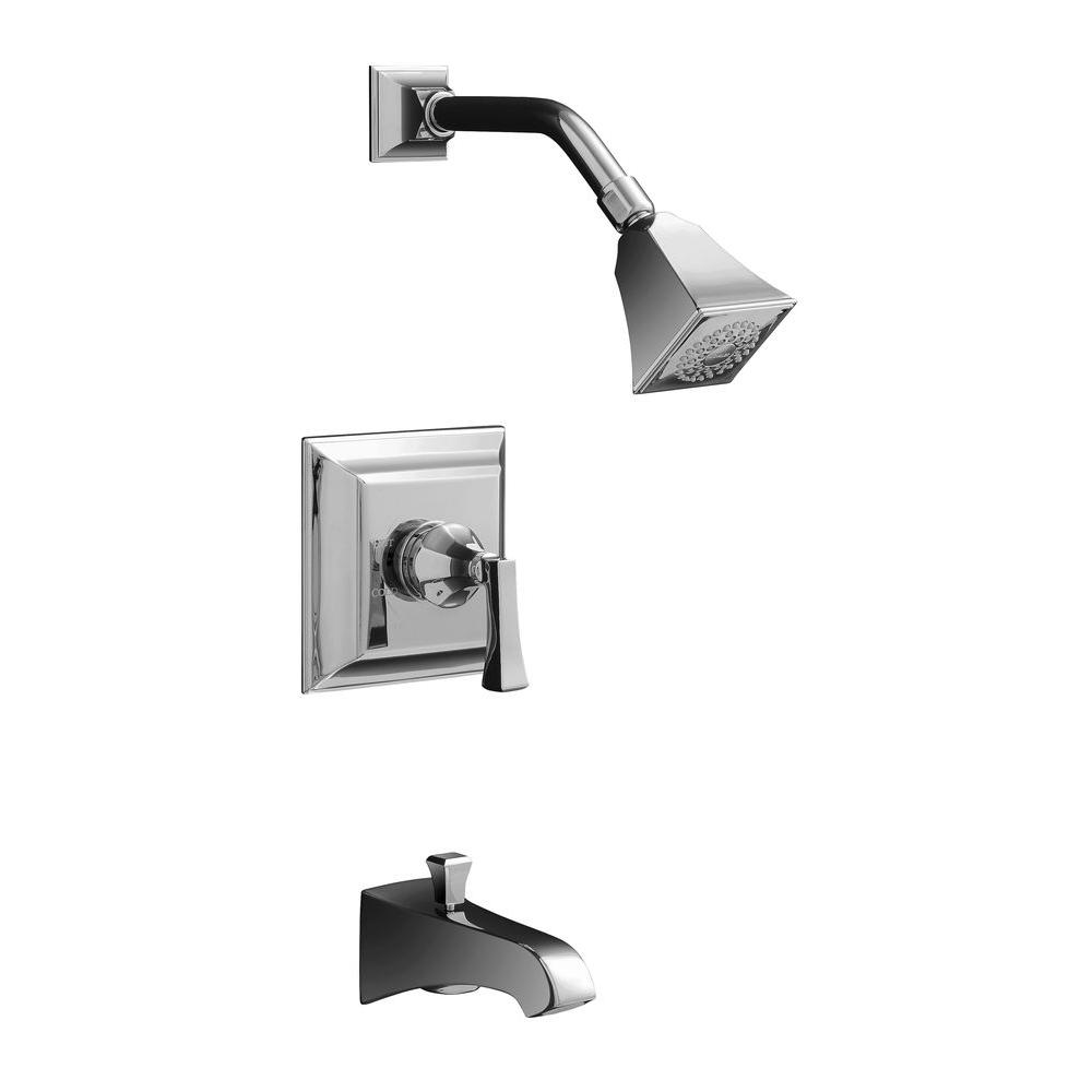 kohler memoirs bath and shower faucet trim only in polished chrome valve not included