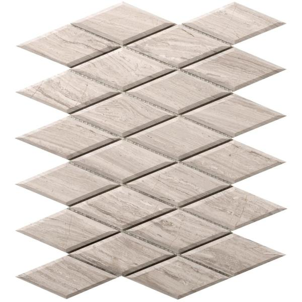 Metro Cream Diamond 10 in. x 13 in. x 10 mm Limestone Mosaic Tile (0.9 sq. ft.)