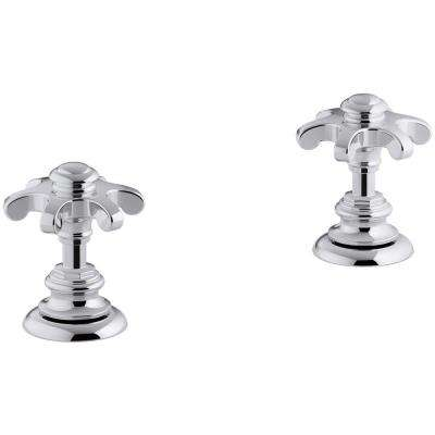 Artifacts Bathroom Sink Prong Handles in Polished Chrome