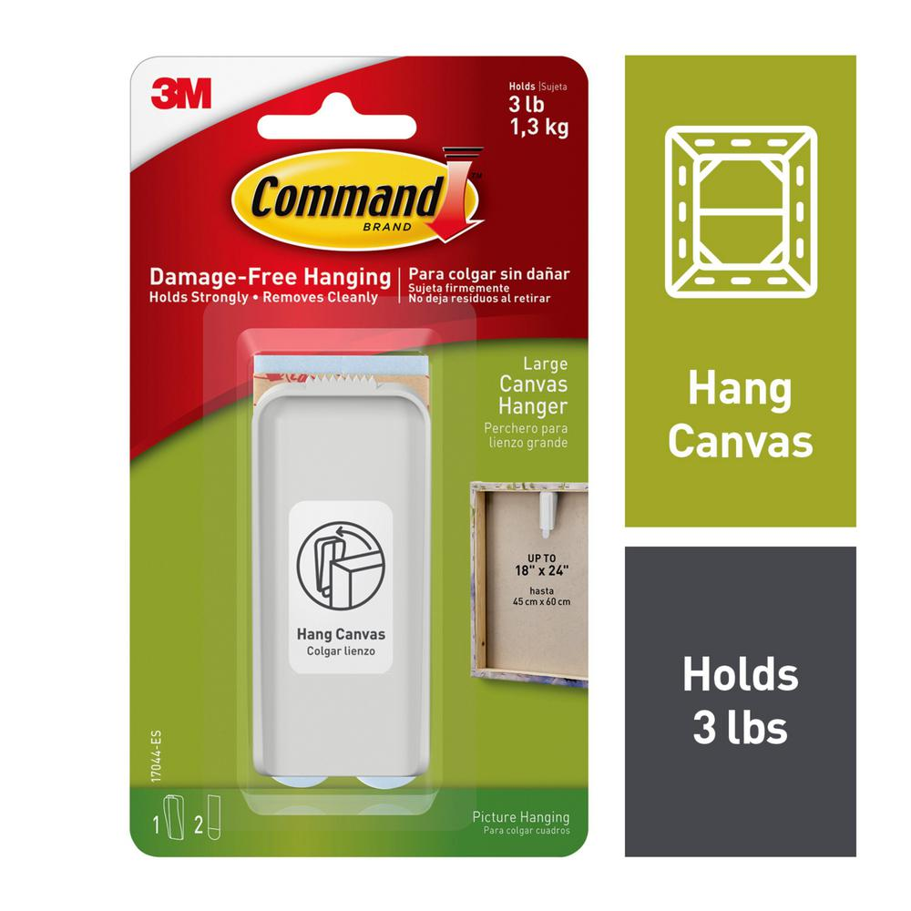 Command Large White Canvas Picture Hanger (1-Canvas Hanger) (2-Adhesive Strips)