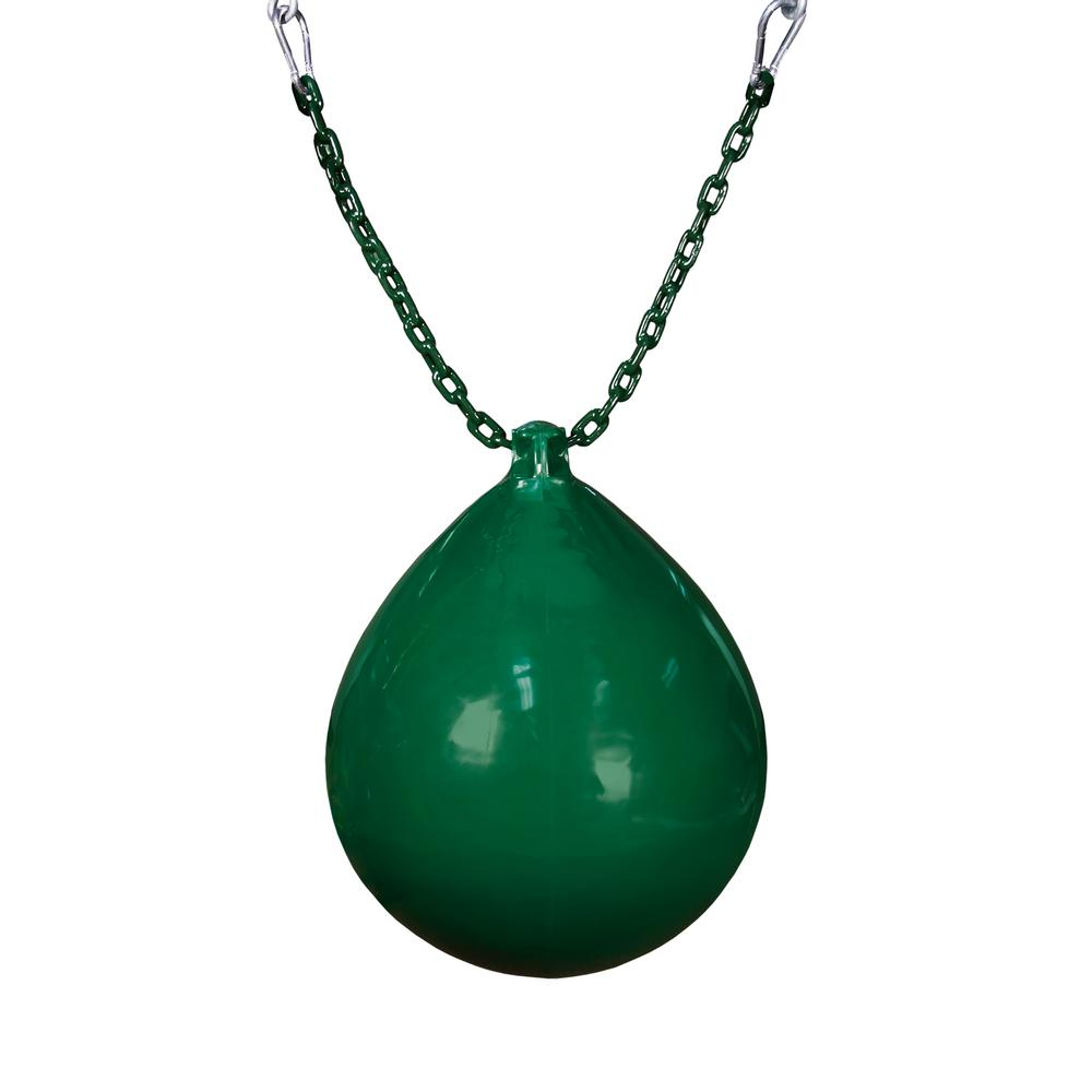 Gorilla Playsets Green Buoy Ball with Chain and Spring Clips