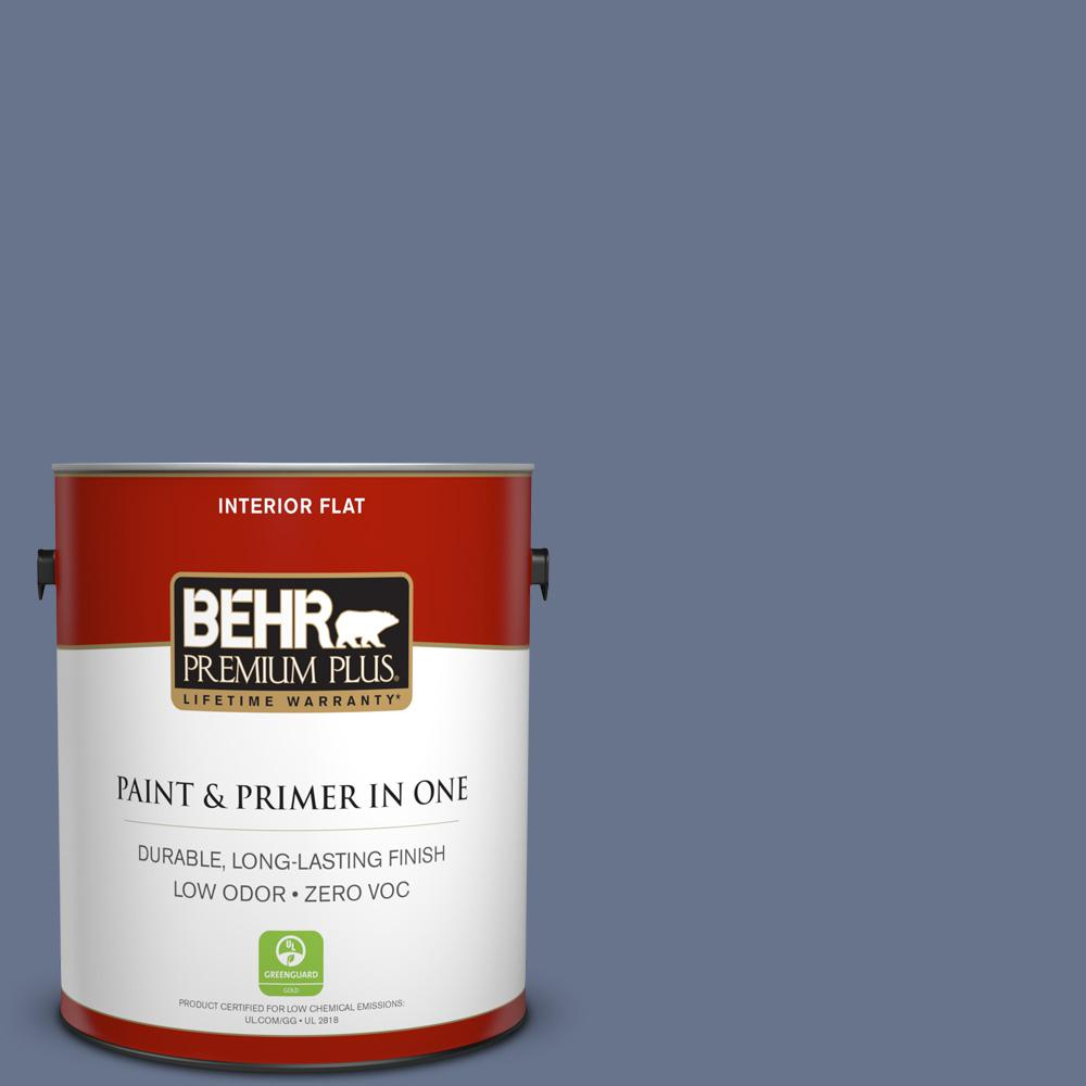 1 gal. #PPU16-17 Blue Aura Zero VOC Flat Interior Paint