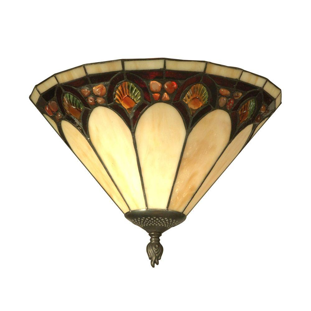Dale Tiffany 1 Light Antique Bronze Crystal Jeweled