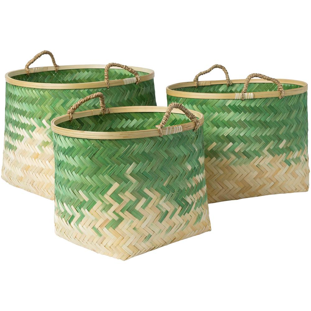 Adely Grass Green Bamboo 15 in. x 11 in., 16.9 in.