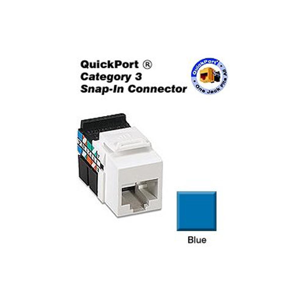 QuickPort CAT 3 Connector, Blue