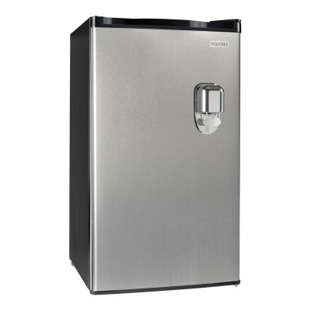 3.2 cu. ft. Beverage Dispensing Top Freezer Refrigerator in Stainless Steel