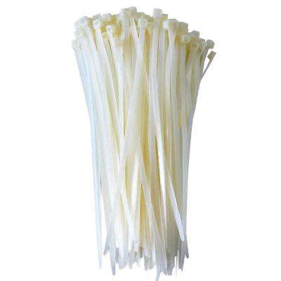 Self-Locking Cable Ties, 8 in., White (100-Pieces)