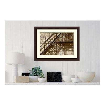 """25 in. H x 33 in. W """"Architecture Drawing I"""" by """" Sisa Jasper"""" Framed Print Wall Art"""