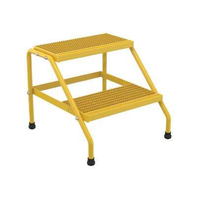 2-Step Yellow Aluminum Step Stand - Knock Down
