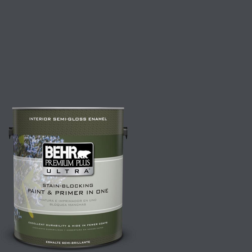 BEHR Premium Plus Ultra Home Decorators Collection 1-gal. #HDC-WR14-4 Winter Coat Semi-Gloss Enamel Interior Paint