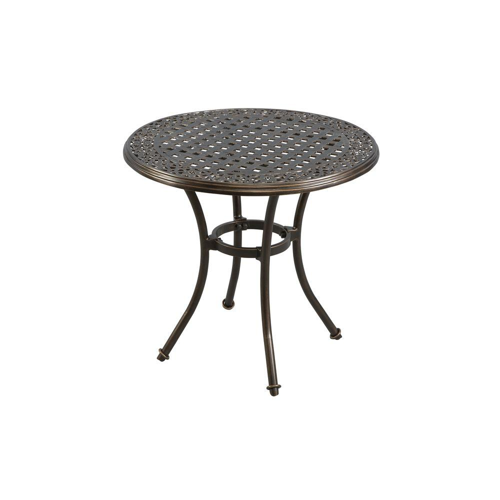 Elegant Round Cast Top Patio Bistro Table ALH16115K01   The Home Depot