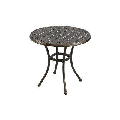 Niles Park 30 in. Round Cast Top Patio Bistro Table
