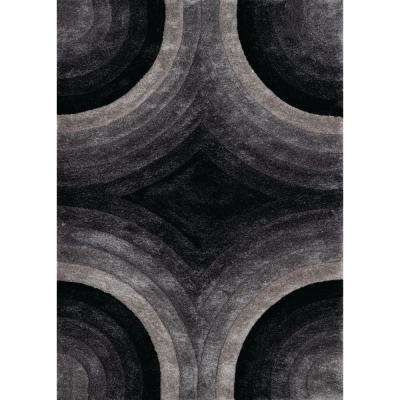 United Weavers Finesse Astral Black 5 ft. 3 in. x 7 ft. 2 in. Area Rug