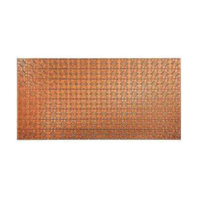 96 in. x 48 in. Traditional 1 Decorative Wall Panel in Antique Bronze