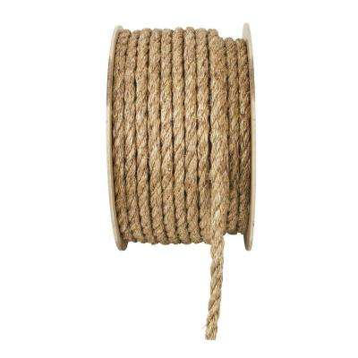 5/8 in. x 1 ft. Manila Twist Rope, Natural