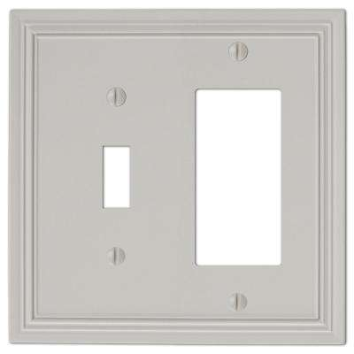 Hallcrest Cast 1-Toggle and 1-Decora Wall Plate, Gray