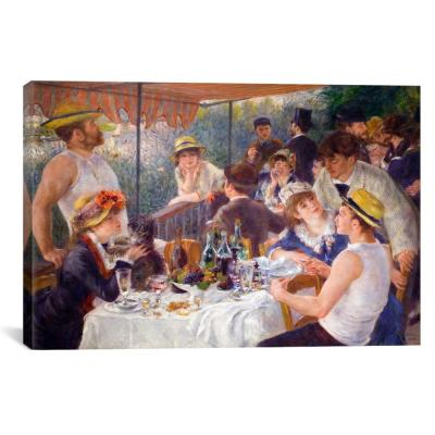"""The Luncheon of the Boating Party 1881"" by Pierre-Auguste Renoir Canvas Wall Art"