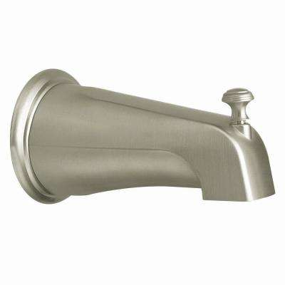 Monticello Diverter Tub Spout with Slip Fit Connection in Brushed Nickel