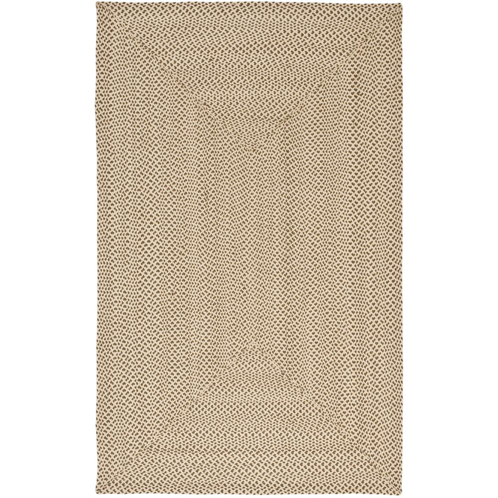 Braided Beige/Brown 8 ft. x 10 ft. Area Rug