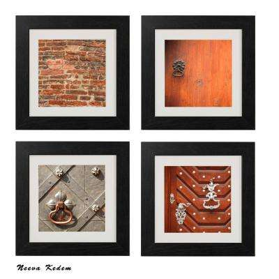 "Four 10 in. x 10 in. ""Prague Doors"" by Neeva Kedem Framed Printed Wall Art"