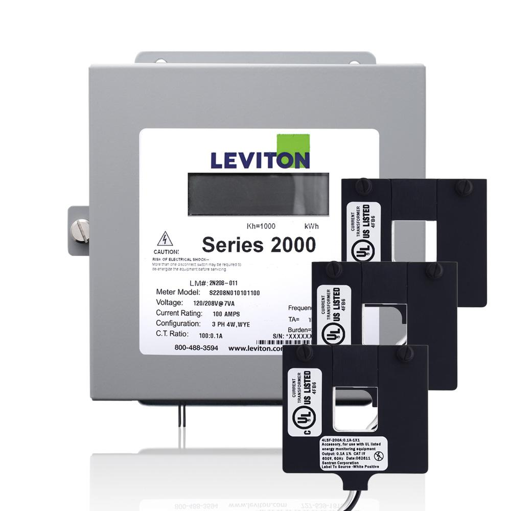 Leviton Series 2000 Three Phase Indoor Meter Kit, 480-Vol...