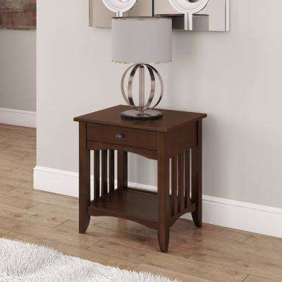 Crestway Cappuccino End Table with Drawer