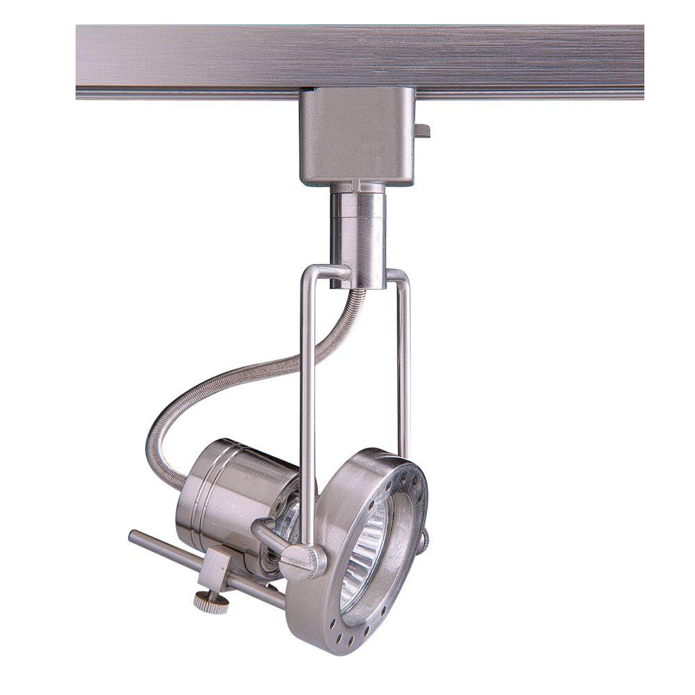 Series 4 Line-Voltage GU-10 Satin Nickel Track Lighting Fixture