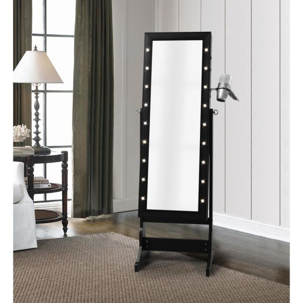 Inspired Home Amelie Marquee LED Light Cheval Floor Mirror ...