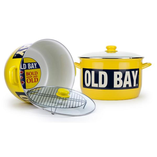 Golden Rabbit Old Bay 18 Qt. Steel Stock Pot with Lid
