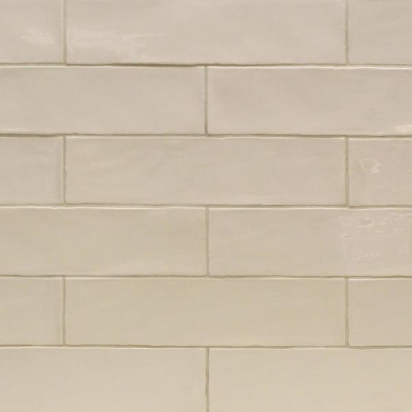 Catalina Vanilla 3 in. x 12 in. x 8 mm Polished Ceramic Subway Wall Tile (10.76 sq.ft./case)