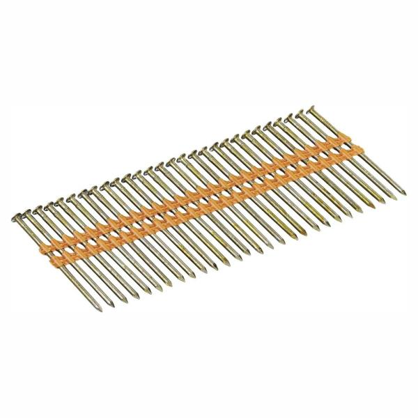 3 in. x 0.131 in. Ring Shank Galvanized Metal Framing Nails (2000-Pack)