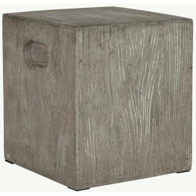 Cube Dark Gray Stone Indoor/Outdoor Accent Table