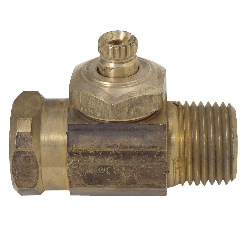 Integral Shut-Off Straight Valve for Mixet Faucets in Brass