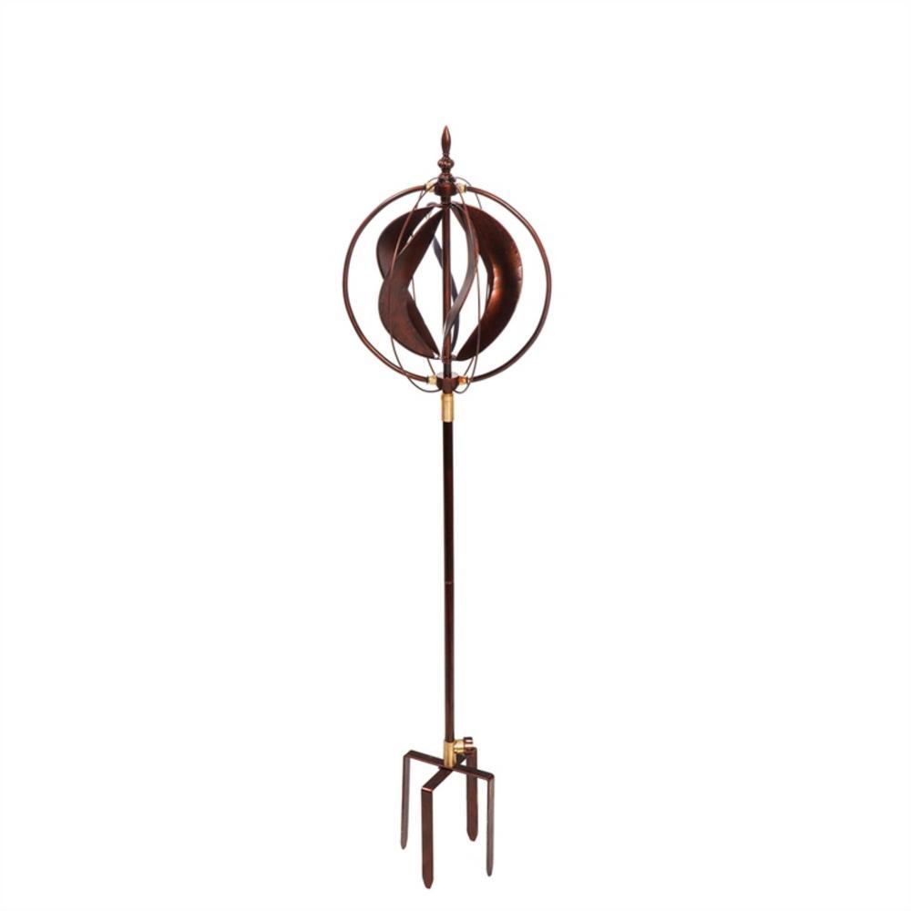Evergreen Garden Copper Sphere 48 In Hydro Kinetic Wind Spinner