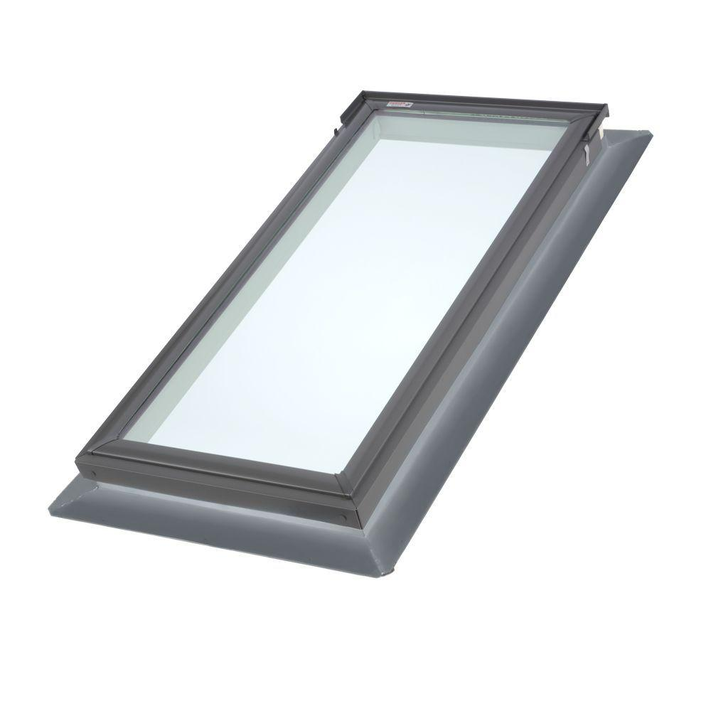 VELUX Replacement Series 22.5 in. x 45.75 in. Fixed Deck-Mount Skylight with Tempered LowE3 Glass-DISCONTINUED