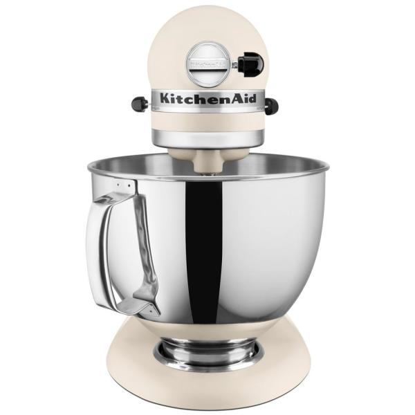 KitchenAid Artisan 5 Qt. 10-Speed Matte Fresh Linen Stand Mixer with