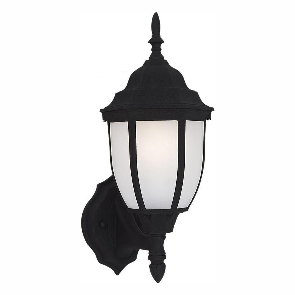 Bakersville 1-Light Black Outdoor 15.5 in. Wall Lantern Sconce