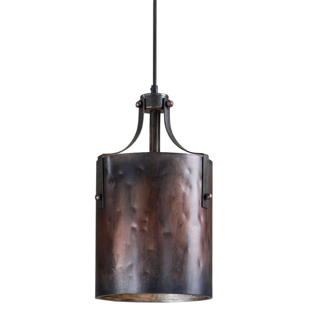 1-Light Copper Mini Pendant